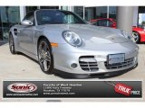 2008 Arctic Silver Metallic Porsche 911 Turbo Cabriolet #88818383