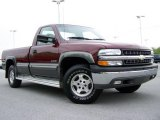 2000 Dark Carmine Red Metallic Chevrolet Silverado 1500 LS Regular Cab 4x4 #8838988