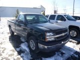 2003 Dark Green Metallic Chevrolet Silverado 1500 Regular Cab 4x4 #88818634