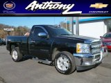 2012 Black Chevrolet Silverado 1500 LT Regular Cab 4x4 #88818591