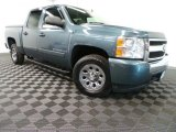 2007 Blue Granite Metallic Chevrolet Silverado 1500 LS Crew Cab #88818427