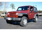 2012 Deep Cherry Red Crystal Pearl Jeep Wrangler Sport 4x4 #88891933