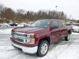 2014 Deep Ruby Metallic Chevrolet Silverado 1500 LT Double Cab 4x4 #88891830