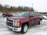 2014 Deep Ruby Metallic Chevrolet Silverado 1500 LT Double Cab 4x4 #88891828