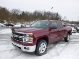 2014 Deep Ruby Metallic Chevrolet Silverado 1500 LT Double Cab 4x4 #88891827