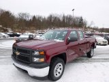 2014 Deep Ruby Metallic Chevrolet Silverado 1500 WT Double Cab 4x4 #88891826