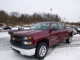 2014 Deep Ruby Metallic Chevrolet Silverado 1500 WT Double Cab 4x4 #88891825