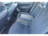2012 Subaru Impreza WRX STi 4 Door Rear Seat