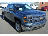2014 Blue Granite Metallic Chevrolet Silverado 1500 LT Double Cab 4x4 #88960361