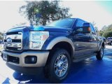 2014 Blue Jeans Metallic Ford F250 Super Duty King Ranch Crew Cab 4x4 #88960029