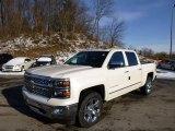 2014 White Diamond Tricoat Chevrolet Silverado 1500 LTZ Crew Cab 4x4 #89007252