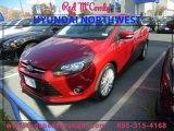 2012 Red Candy Metallic Ford Focus Titanium Sedan #89007159