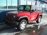 2011 Flame Red Jeep Wrangler Sport 4x4 #89007670