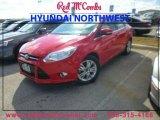 2012 Race Red Ford Focus SEL Sedan #89007154