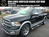 2012 Black Dodge Ram 1500 Laramie Crew Cab 4x4 #89007330
