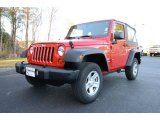 2012 Flame Red Jeep Wrangler Sport 4x4 #89007488