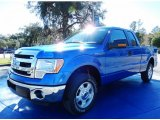2014 Blue Flame Ford F150 XLT SuperCab #89007187
