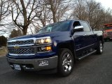 2014 Blue Topaz Metallic Chevrolet Silverado 1500 LTZ Crew Cab 4x4 #89051919