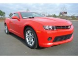 2014 Red Hot Chevrolet Camaro LS Coupe #89052423