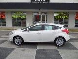 2012 White Platinum Tricoat Metallic Ford Focus SEL 5-Door #89052307