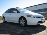 2007 Taffeta White Honda Civic LX Sedan #890381