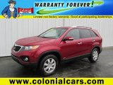 2011 Spicy Red Kia Sorento LX AWD #89120531