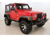 2006 Flame Red Jeep Wrangler X 4x4 #89120452