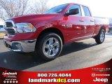 2014 Flame Red Ram 1500 Big Horn Quad Cab 4x4 #89140896