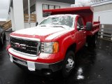 2013 Fire Red GMC Sierra 3500HD Regular Cab 4x4 Dump Truck #89161557