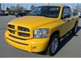 2008 Detonator Yellow Dodge Ram 1500 Sport Quad Cab 4x4 #89200192