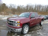 2014 Deep Ruby Metallic Chevrolet Silverado 1500 LTZ Z71 Double Cab 4x4 #89199923