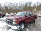 2014 Deep Ruby Metallic Chevrolet Silverado 1500 WT Double Cab #89199911