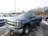 2014 Blue Granite Metallic Chevrolet Silverado 1500 WT Regular Cab 4x4 #89199910