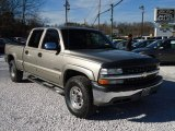2002 Light Pewter Metallic Chevrolet Silverado 1500 LS Crew Cab 4x4 #89200255