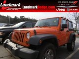 2012 Crush Orange Jeep Wrangler Sport 4x4 #89199878