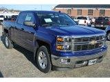 2014 Blue Topaz Metallic Chevrolet Silverado 1500 LTZ Z71 Double Cab 4x4 #89243298
