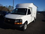 2014 Summit White Chevrolet Express Cutaway 3500 Utility Van #89243036