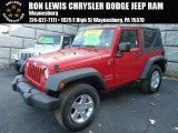 2012 Flame Red Jeep Wrangler Sport S 4x4 #89265371