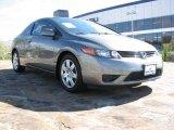 2007 Galaxy Gray Metallic Honda Civic LX Coupe #890368