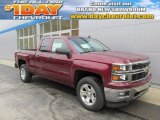 2014 Deep Ruby Metallic Chevrolet Silverado 1500 LT Z71 Double Cab 4x4 #89274708