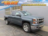 2014 Blue Granite Metallic Chevrolet Silverado 1500 LT Z71 Double Cab 4x4 #89274707