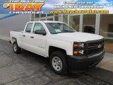 2014 Summit White Chevrolet Silverado 1500 WT Double Cab 4x4 #89274712