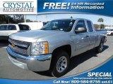 2013 Silver Ice Metallic Chevrolet Silverado 1500 LT Extended Cab #89301052