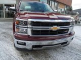2014 Deep Ruby Metallic Chevrolet Silverado 1500 LTZ Z71 Double Cab 4x4 #89300710