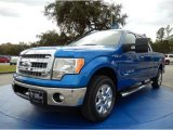 2014 Blue Flame Ford F150 XLT SuperCrew #89336537