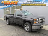2014 Tungsten Metallic Chevrolet Silverado 1500 WT Regular Cab 4x4 #89350936