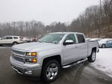 2014 Silver Ice Metallic Chevrolet Silverado 1500 LTZ Crew Cab 4x4 #89351095