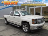 2014 White Diamond Tricoat Chevrolet Silverado 1500 LTZ Crew Cab 4x4 #89350929
