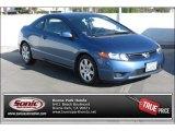 2007 Atomic Blue Metallic Honda Civic LX Coupe #89351084