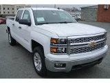 2014 Summit White Chevrolet Silverado 1500 LT Crew Cab 4x4 #89351181